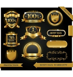 satisfaction guaranteed labels vector image