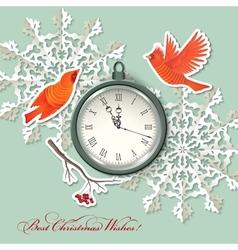 Scrapbook element Christmas background vector