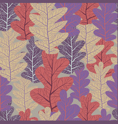 slylish oak pattern vector image