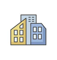 smart city rgb color icon vector image