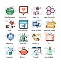 Social media icons pack vector