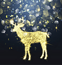Sparkle christmas deer 1310 vector