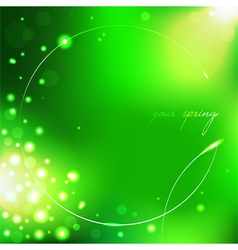 Spring green background with leaf vector image