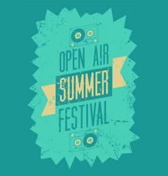Summer festival typography vintage grunge poster vector