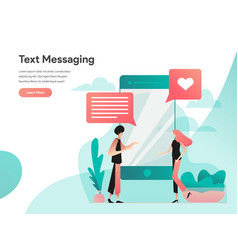 text messaging concept modern flat design vector image