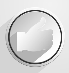 Thumb up like icon vector