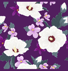 Trendy floral seamless pattern exotic tropical vector