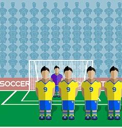Ukraine Soccer Club Penalty on a Stadium vector