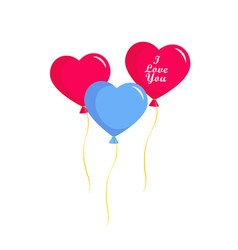 valentines day balloons hearts vector image