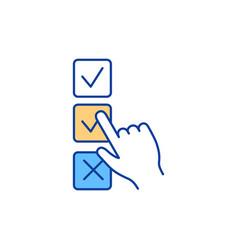 voting rgb color icon vector image