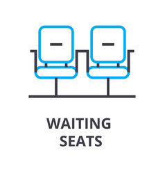 waiting seats thin line icon sign symbol vector image