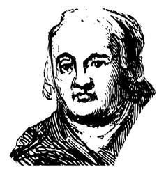william ellery vintage vector image