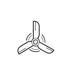 wind turbine hand drawn outline doodle icon vector image