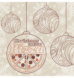 Abstract christmas menu for pizza vector