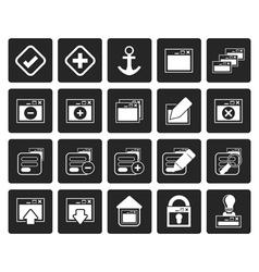 Black Application Programming Server vector image
