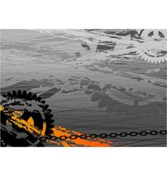 dark industrial background with cogwheel vector image