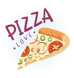Pizza love vector image