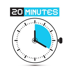 Twenty Minutes Stop Watch - Clock vector image