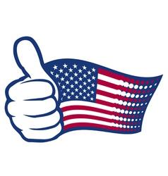 USA thumbs up vector image vector image
