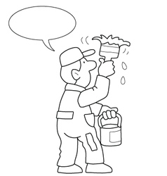 Cartoon Painter vector image vector image