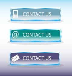 Contact us buttons vector image