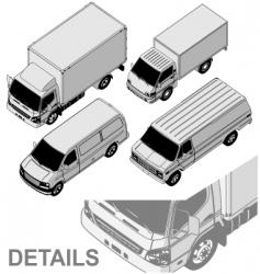 delivery van set vector image