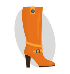 fashion female orange boots isolated casual foot vector image vector image
