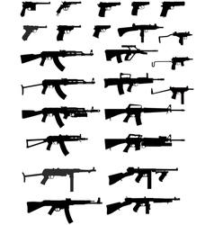 gun collection vector image