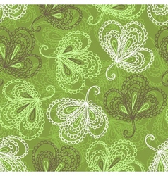 Ornate floral seamless pattern vector image