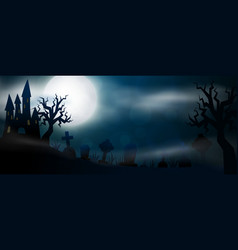 scary night halloween vector image