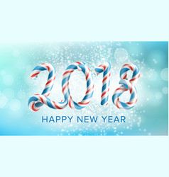 2018 happy new year background flyer or vector image vector image