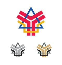 abstract company emblem vector image vector image