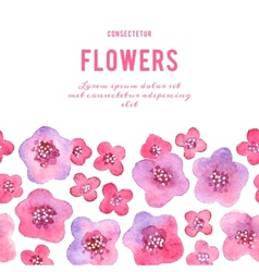 Background with flowers watercolor violets vector