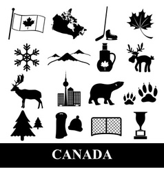 canada country theme symbols stickers set eps10 vector image vector image