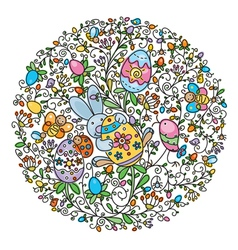 circle easter vector image vector image