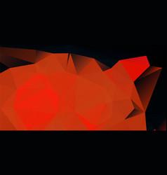 dark red low polygonal background vector image