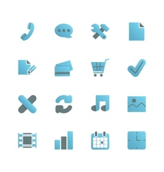 Ecommerce iconset for web design vector image