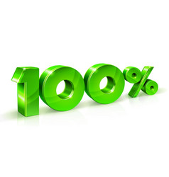 Green numbers sale 100 persents off on a white vector