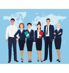 Happy group of a professional business team vector image
