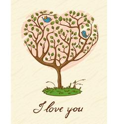 Romantic card vector image