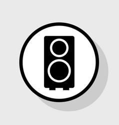 speaker sign flat black icon vector image vector image
