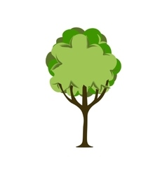 Stylized green tree vector image