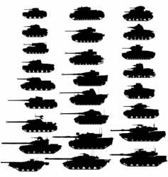 tanks vector image