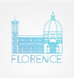 the cattedrale di santa maria del fiore - the vector image
