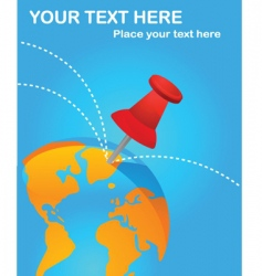 travel world poster vector image vector image