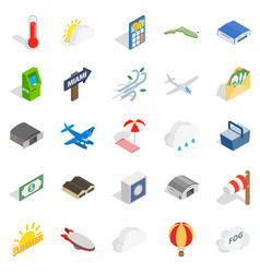 air force icons set isometric style vector image vector image