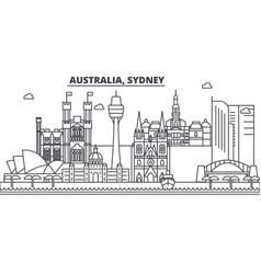 Australia sydney architecture line skyline vector