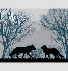 Forest wolves vector image vector image