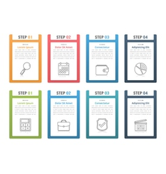 Infographic Elements with Numbers and Text vector image vector image