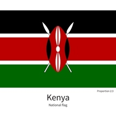 National flag of kenya with correct proportions vector
